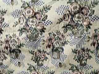 Matching floral upholstery