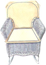 How to make a cushion for a wicker chair