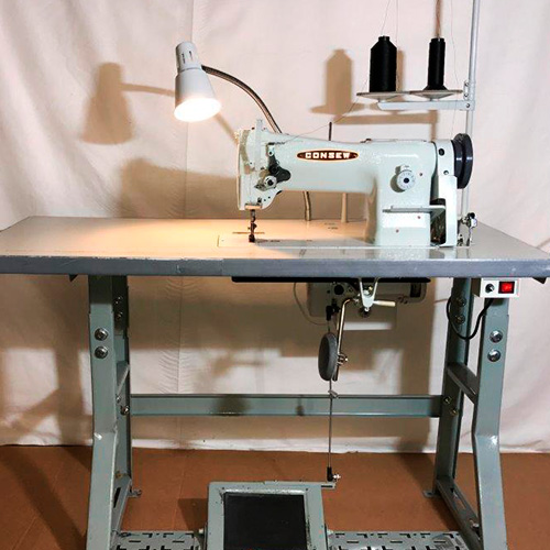 Consew 206rb5 Industrial Sewing Machine Table/Motor/Stand Set With Free  Shipping *