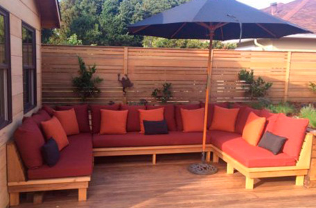 Sofa And Window Seat Cushions, How To Make Garden Furniture Cushions